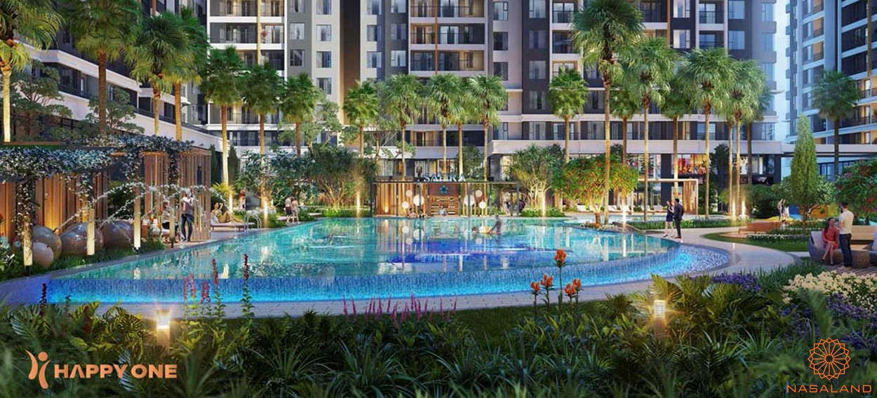 Tiện ích nội khu dự án Happy One Premier - hồ bơi
