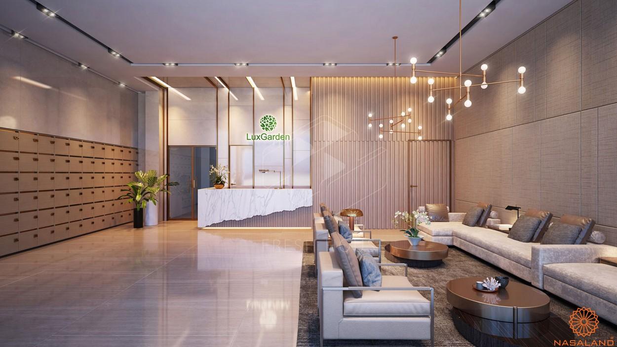 Sảnh đón tiếp sang trọng dự án căn hộ Lux Star quận 7