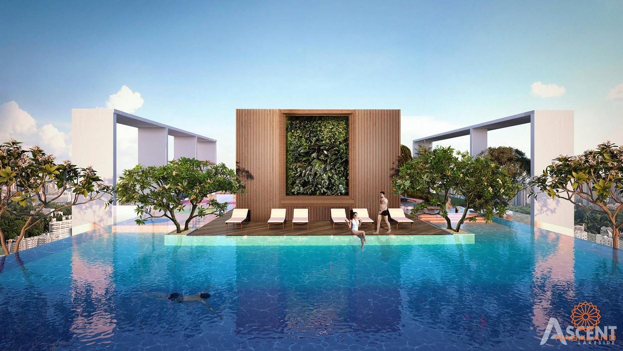 Tiện ích dự án - hồ bơi tràn viền tại sân thượng