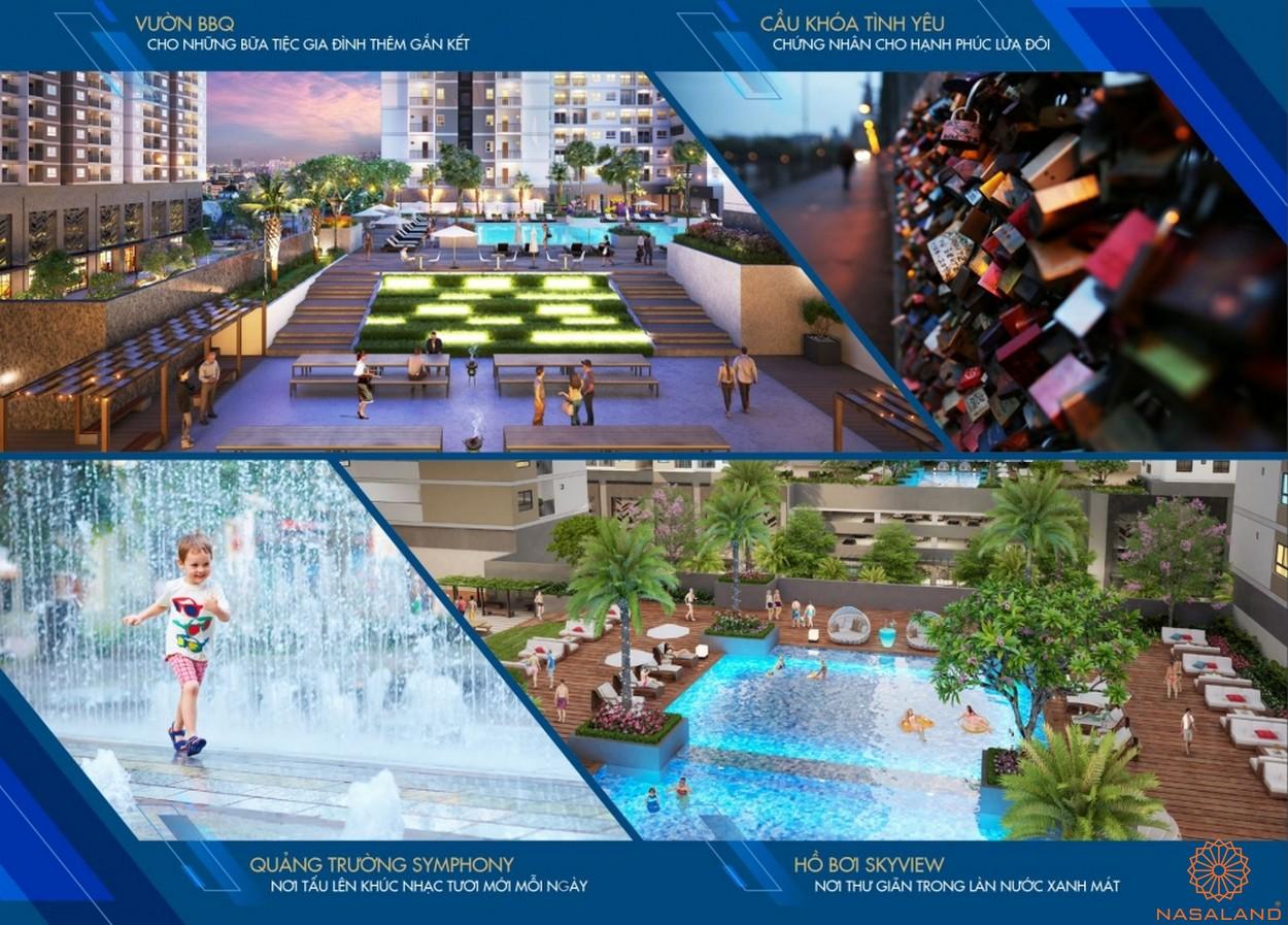 Khu giải trí - hồ bơi skyview dự án căn hộ Q7 Saigon Riverside Complex quận 7