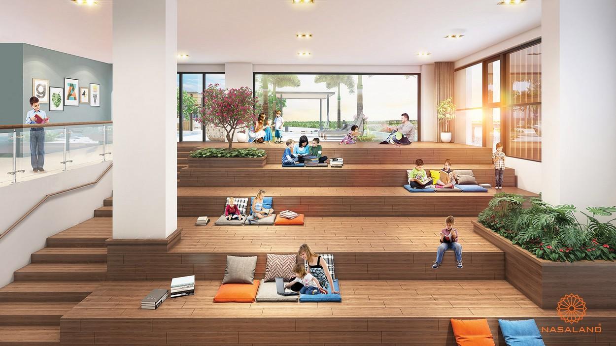Tiện ích dự án The Peak Midtown - phòng đọc sách bậc thang