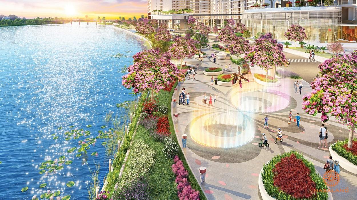 Tiện ích The Peak Midtown - công viên hoa anh đào