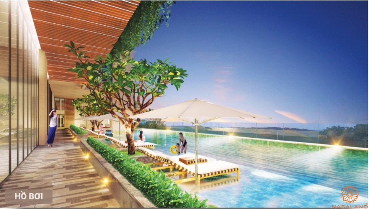 Hồ bơi tràn bờ dự án căn hộ Urban Hill quận 7