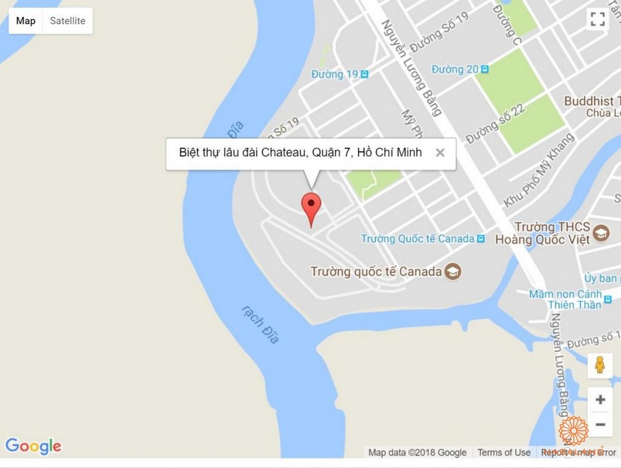 Vị trí biệt thự Chateau Phú Mỹ Hưng Quận 7