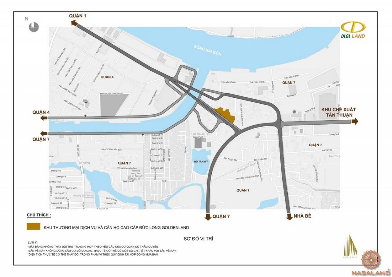 Vị trí đại chỉ dự án căn hộ Đức Long Golden Land quận 7