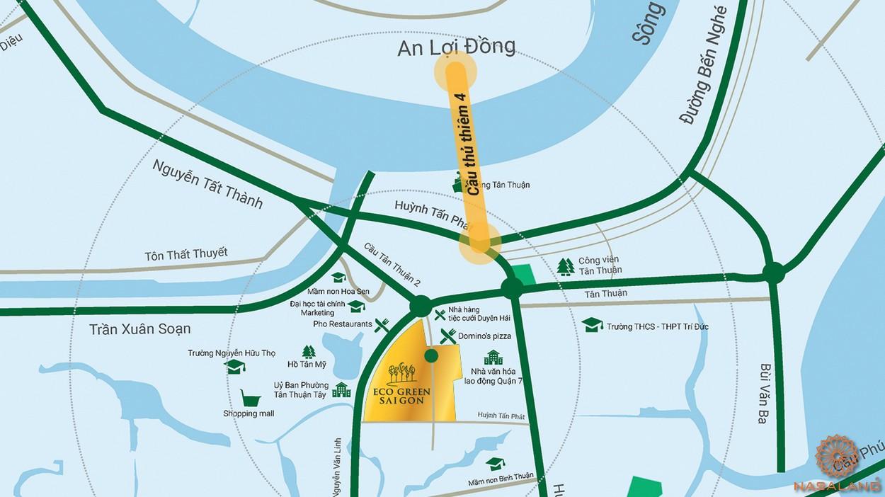 Vị trí địa chỉ dự án Eco Green Sài Gòn quận 7