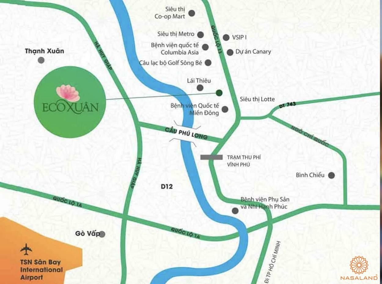 Vị trí dự án căn hộ Eco Xuân Sky Residences