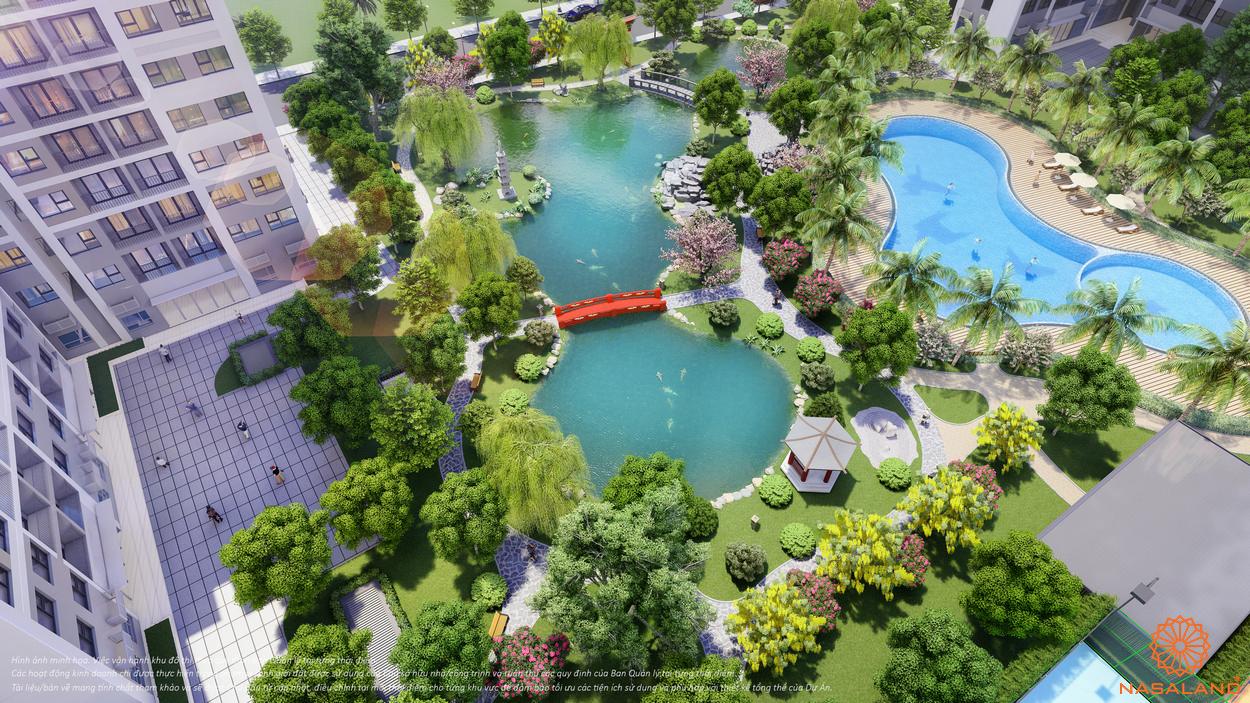 Tiện ích The Origami Zen S10 - vườn Nhật, góc nhìn từ trên cao