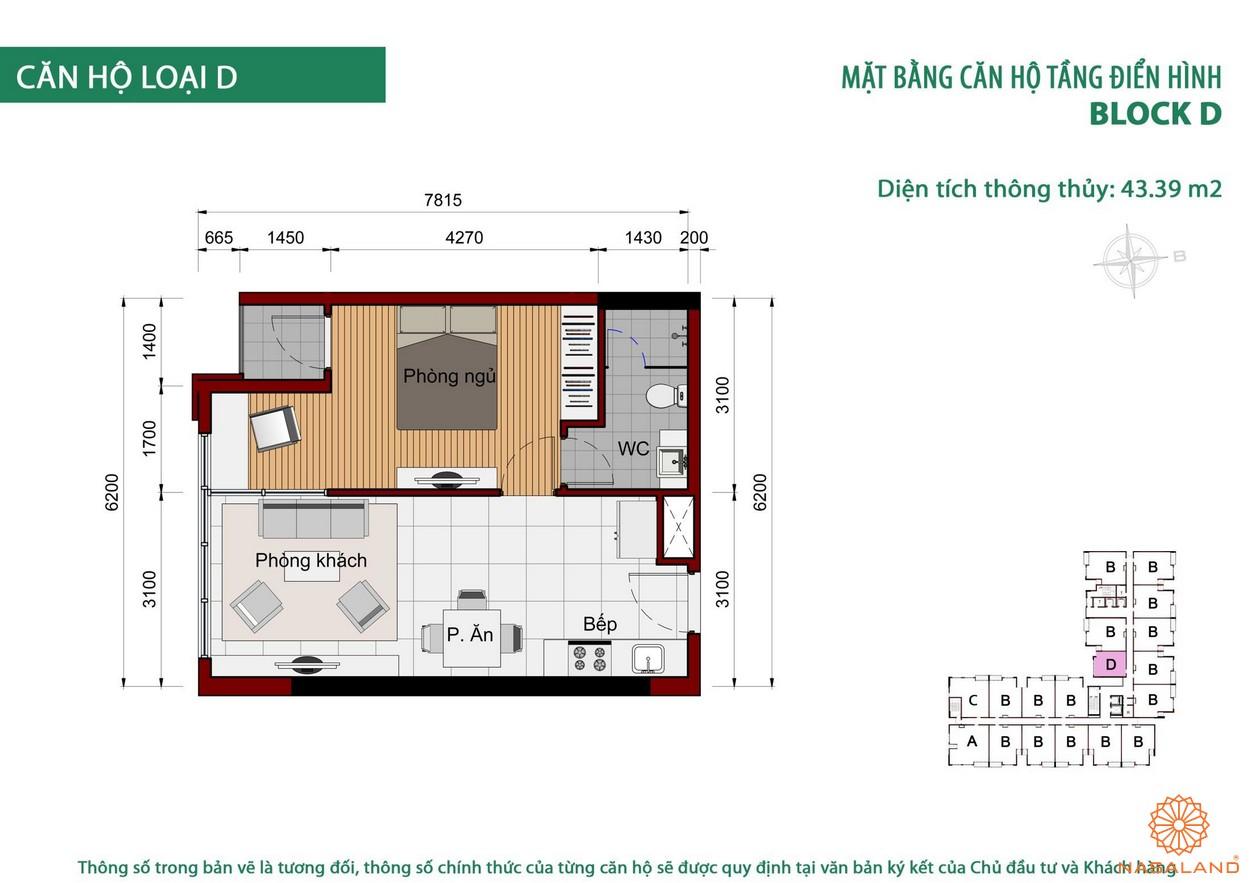 Thiết kế căn hộ Cộng Hòa Garden loại D