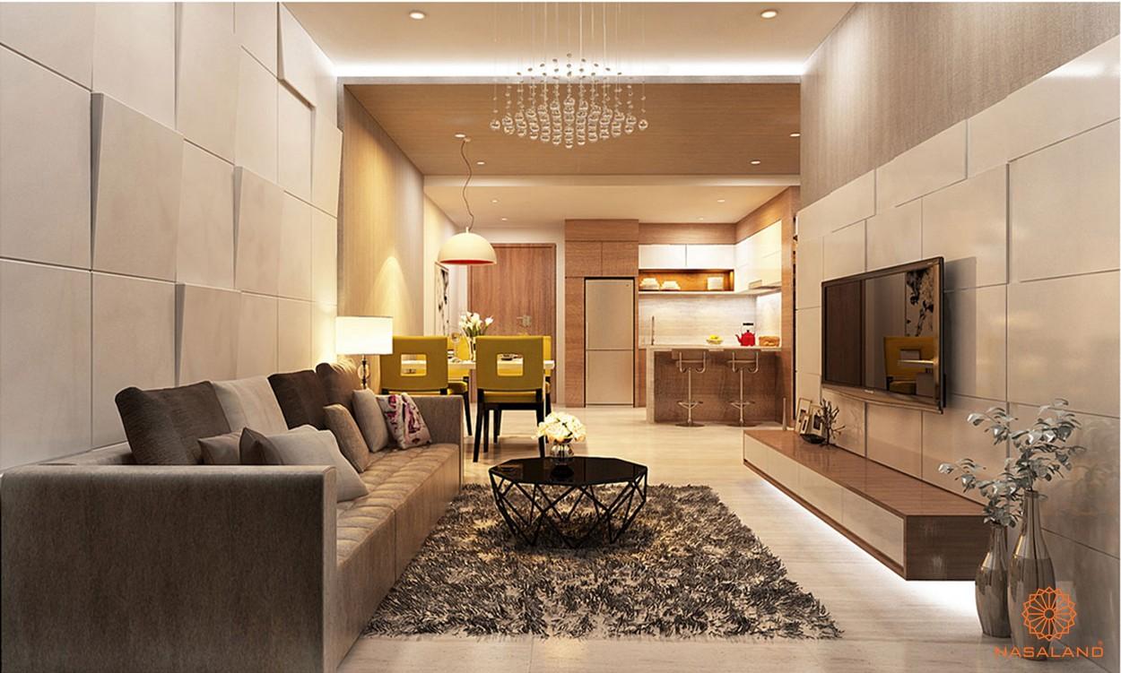 Nhà mẫu phòng khách tại dự án căn hộ Lux Riverview quận 7