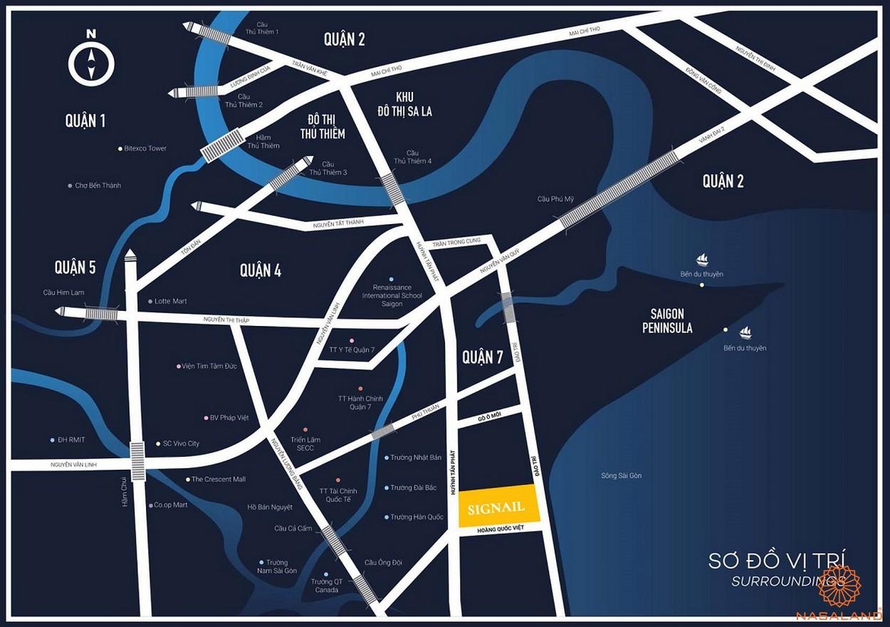 Vị trí đắc địa của dự án căn hộ Smartel Signial