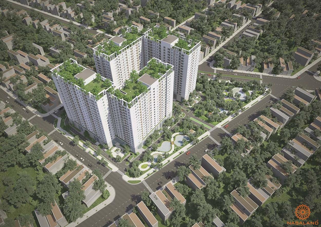 Phối cảnh tổng thể dự án căn hộ Tara Residence nhìn từ tên cao