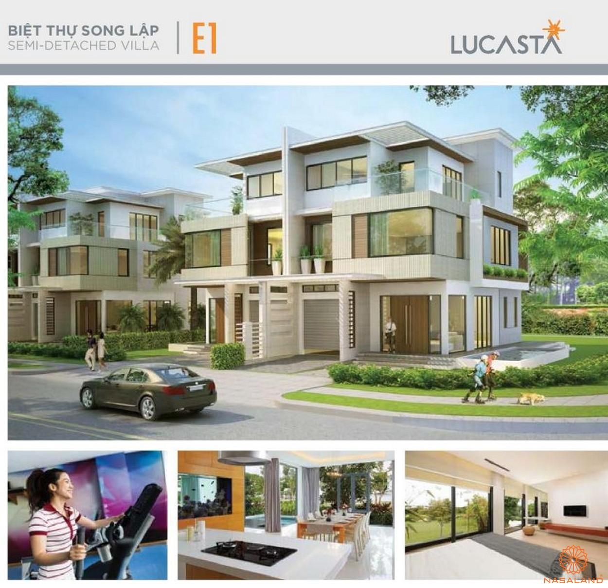 Nhà mẫu biệt thự song lập E1 tại dự án biệt thự Lucasta quận 9