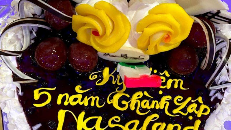Bánh kem mừng kỷ niệm 5 năm thành lập công ty TNHH Nasaland