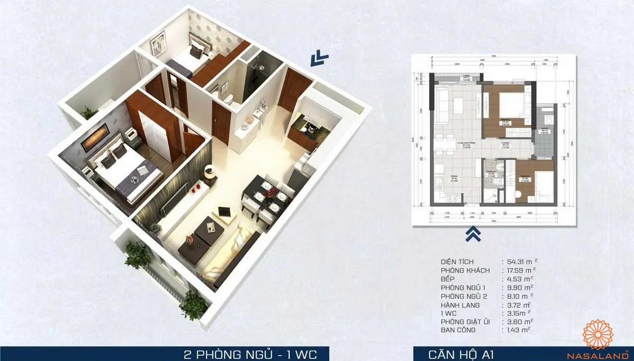 Mặt bằng dự án - căn hộ A1