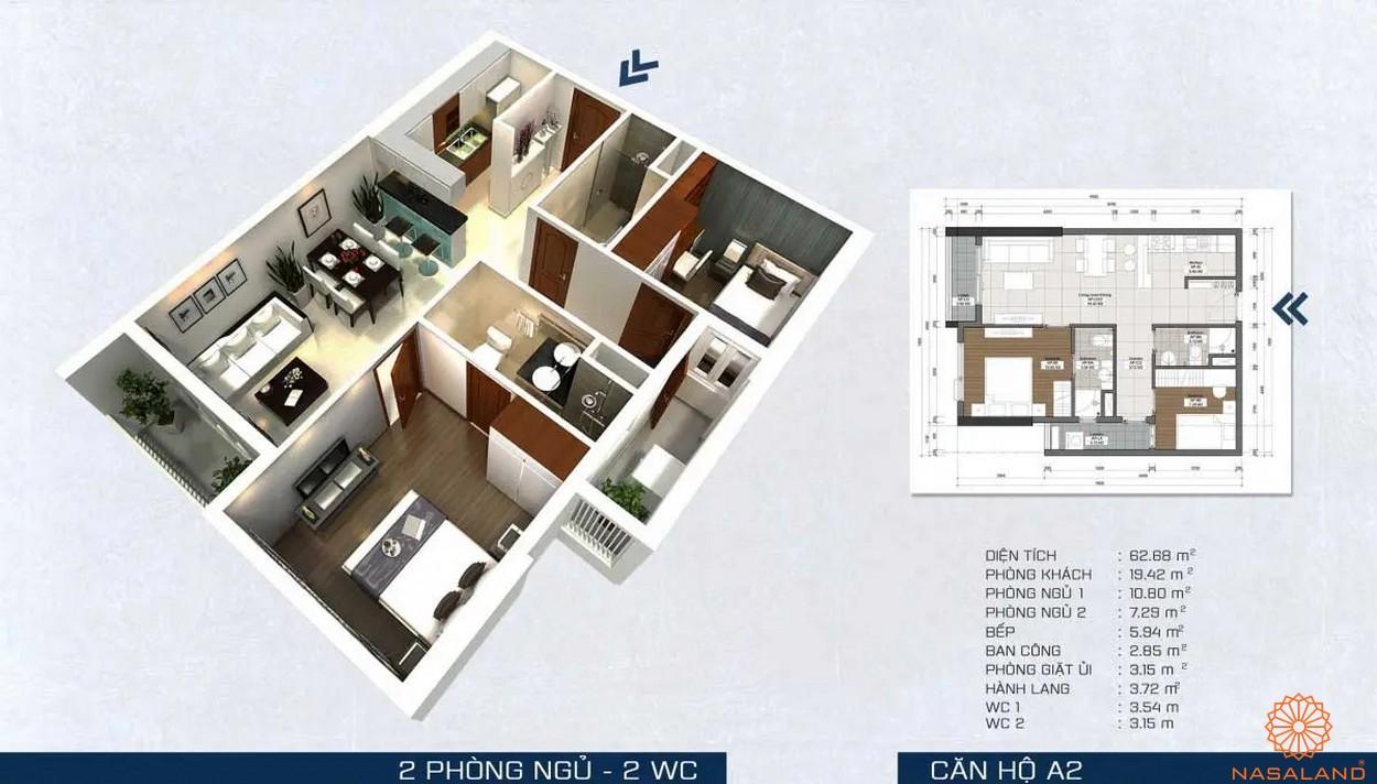 Mặt bằng dự án - căn hộ A2