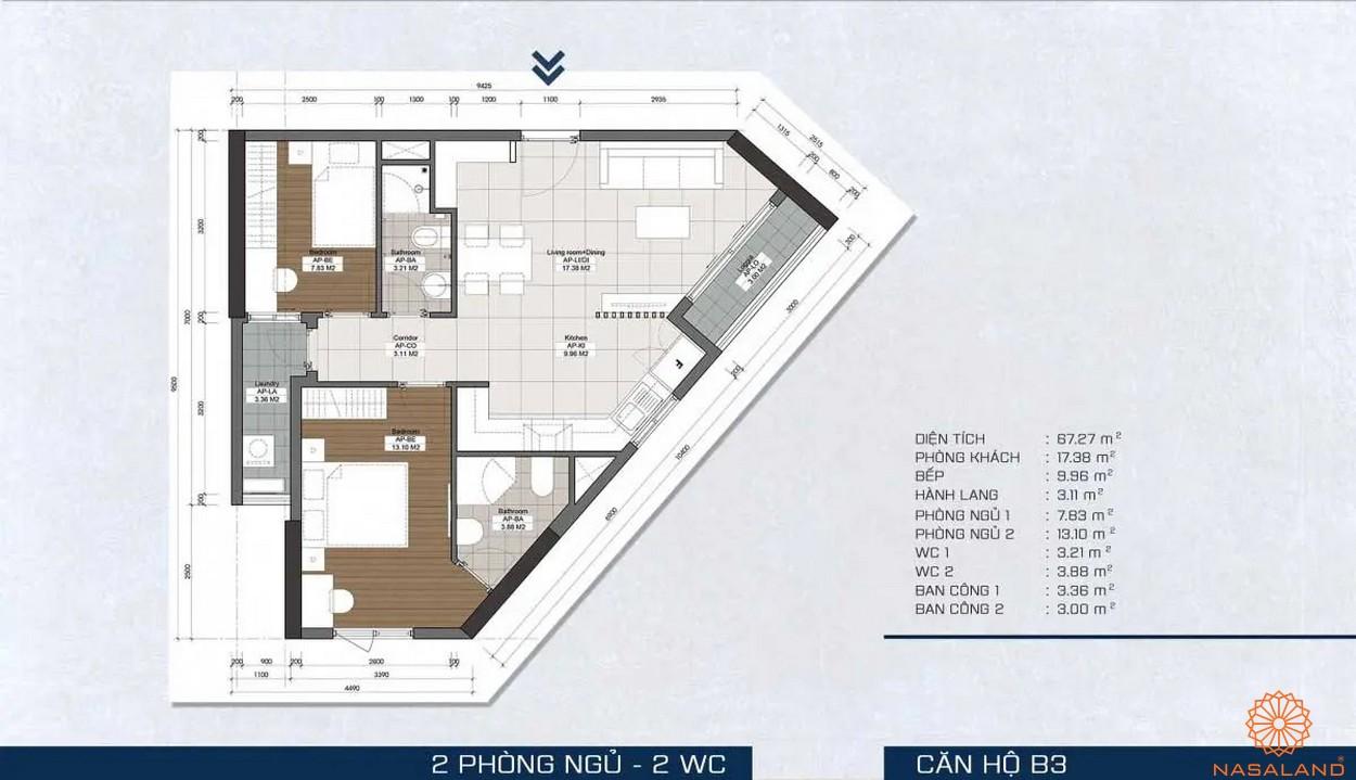 Mặt bằng dự án - căn hộ B3