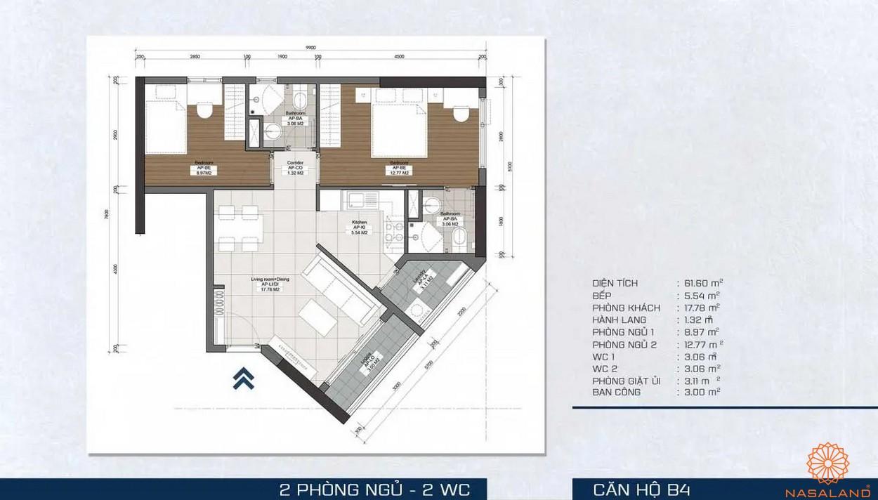 Mặt bằng dự án - căn hộ B4