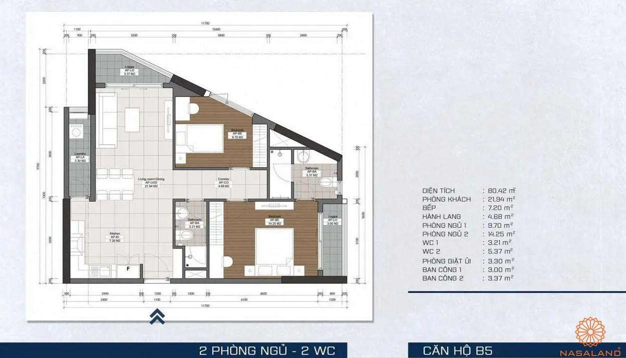 Mặt bằng dự án - căn hộ B5