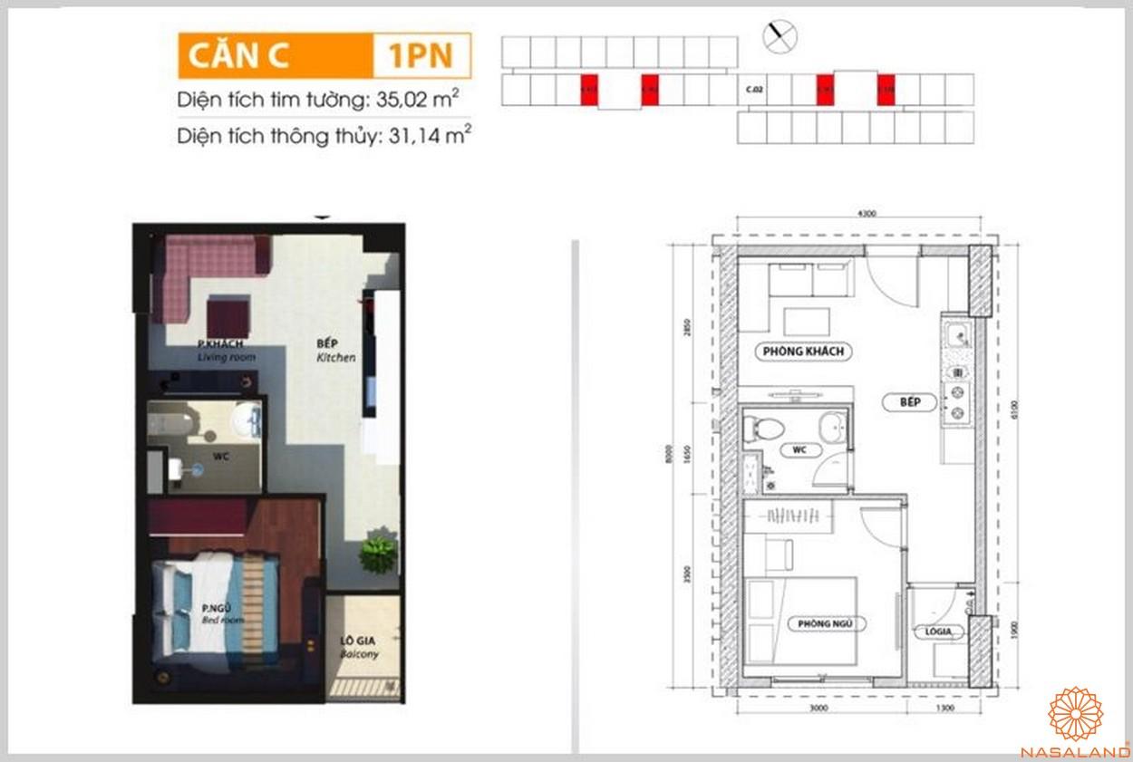 Mặt bằng căn c dự án căn hộ Bcons Suối Tiên