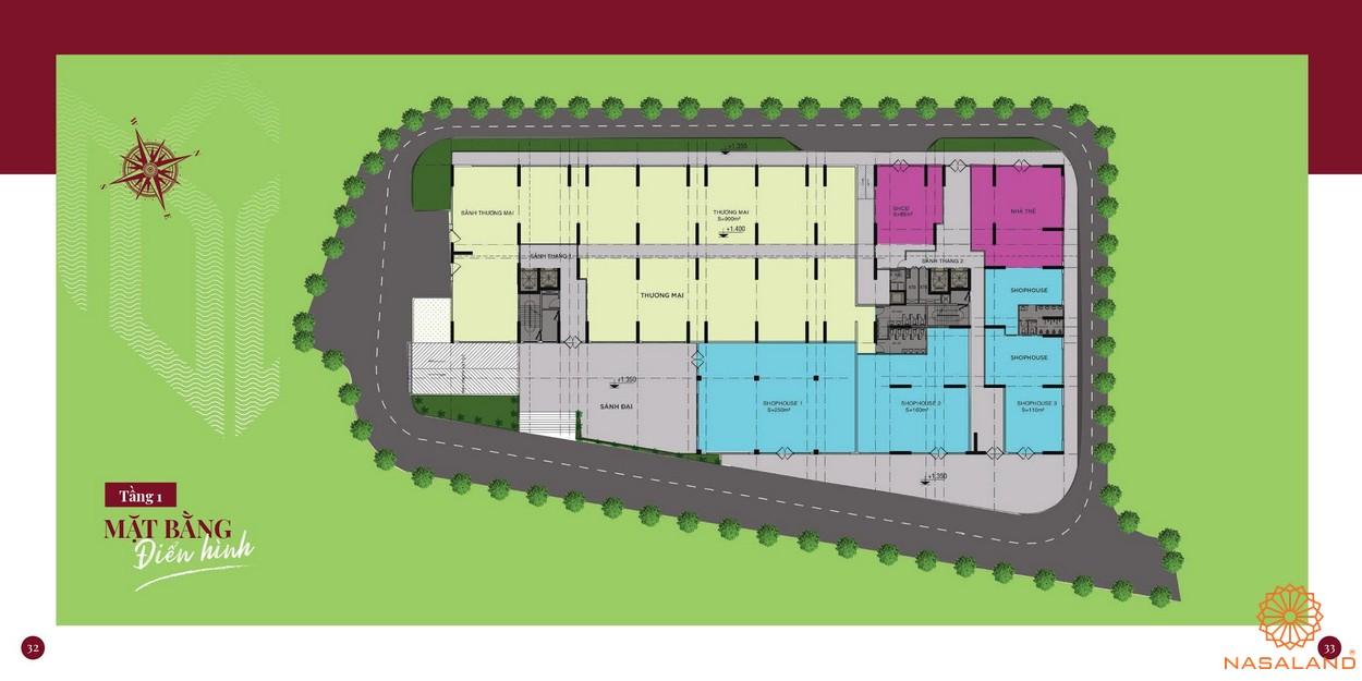 Mặt bằng dự án căn hộ chung cư Minh Quốc Plaza Bình Dương - Tầng 1