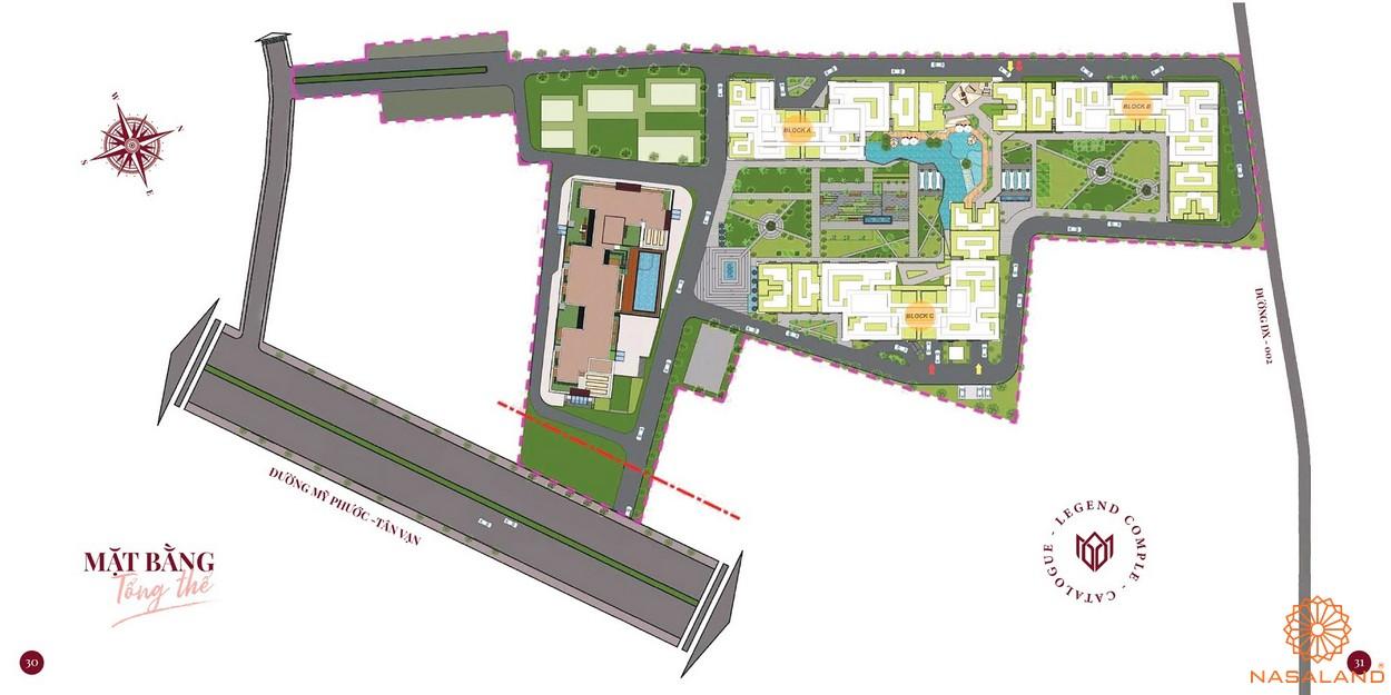 Mặt bằng dự án căn hộ chung cư Minh Quốc Plaza Bình Dương - Tổng thể