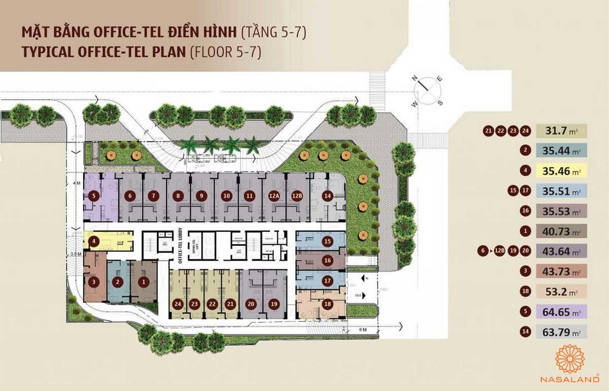 Mặt bằng căn hộ dự án One Alpha Riverside quận 1
