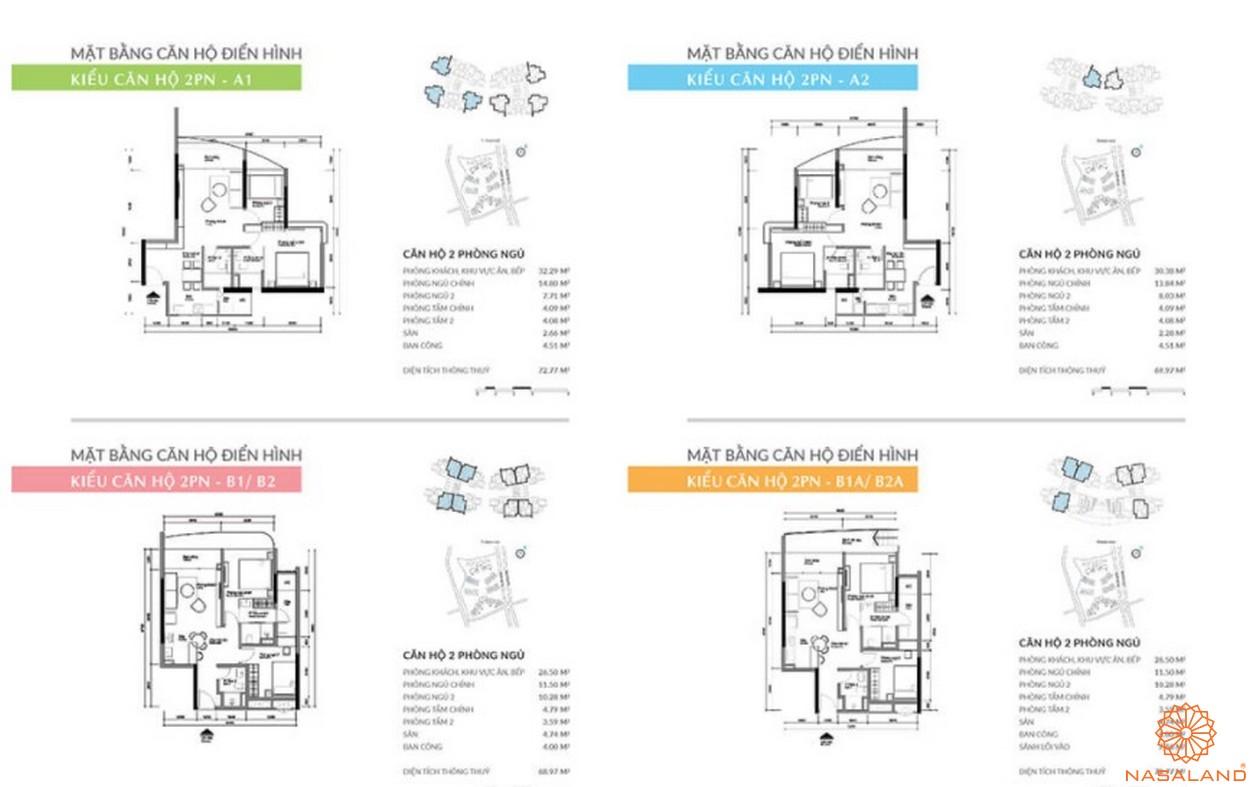 Mặt bằng dự án căn hộ TNR Kenton Node Quận 7 - 2PN
