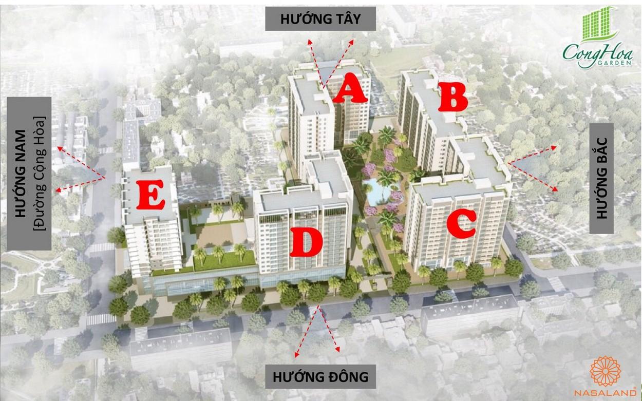 Mặt bằng tổng thể dự án căn hộ Cộng Hòa Garden
