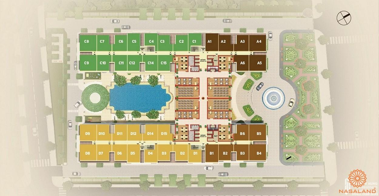 Mặt bằng dự án căn hộ Dream Home Palace quận 8