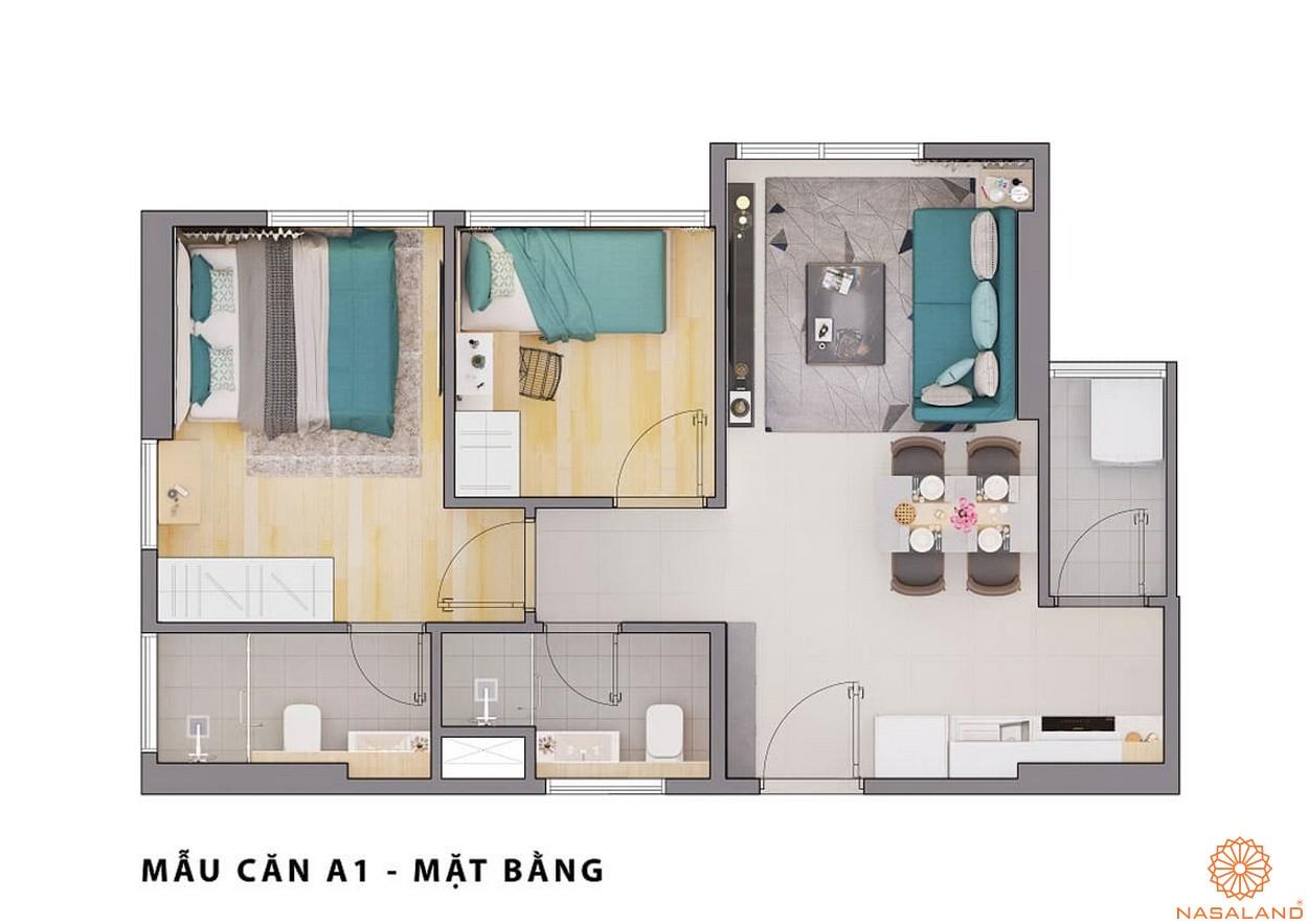Mặt bằng dự án căn hộ Opal Avenue Bình Dương mẫu A1