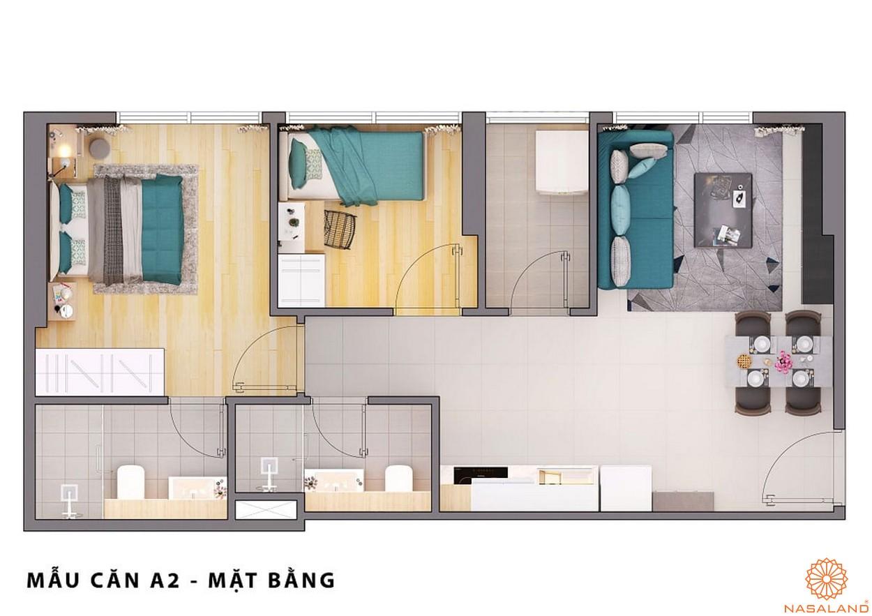 Mặt bằng dự án căn hộ Opal Avenue Bình Dương mẫu A2