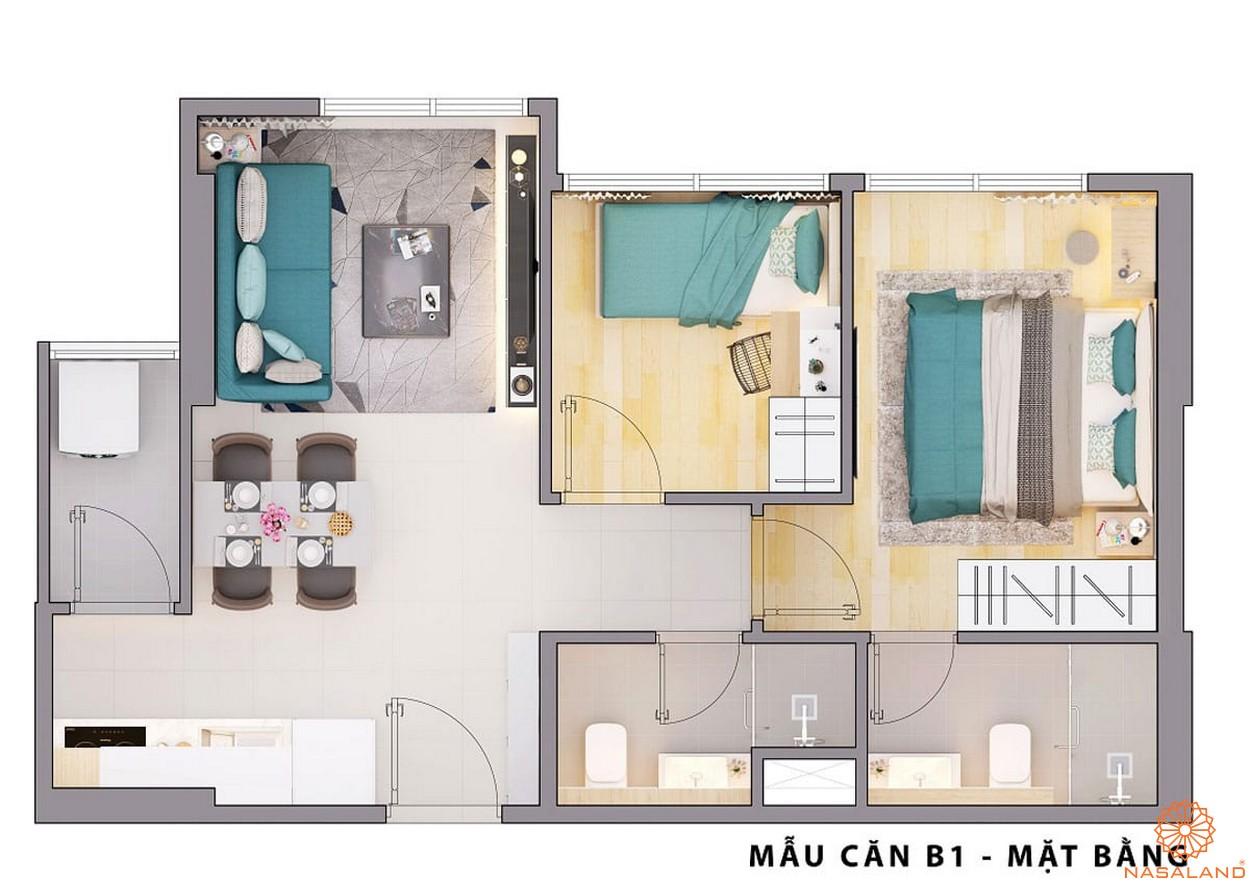 Mặt bằng dự án căn hộ Opal Avenue Bình Dương mẫu B1