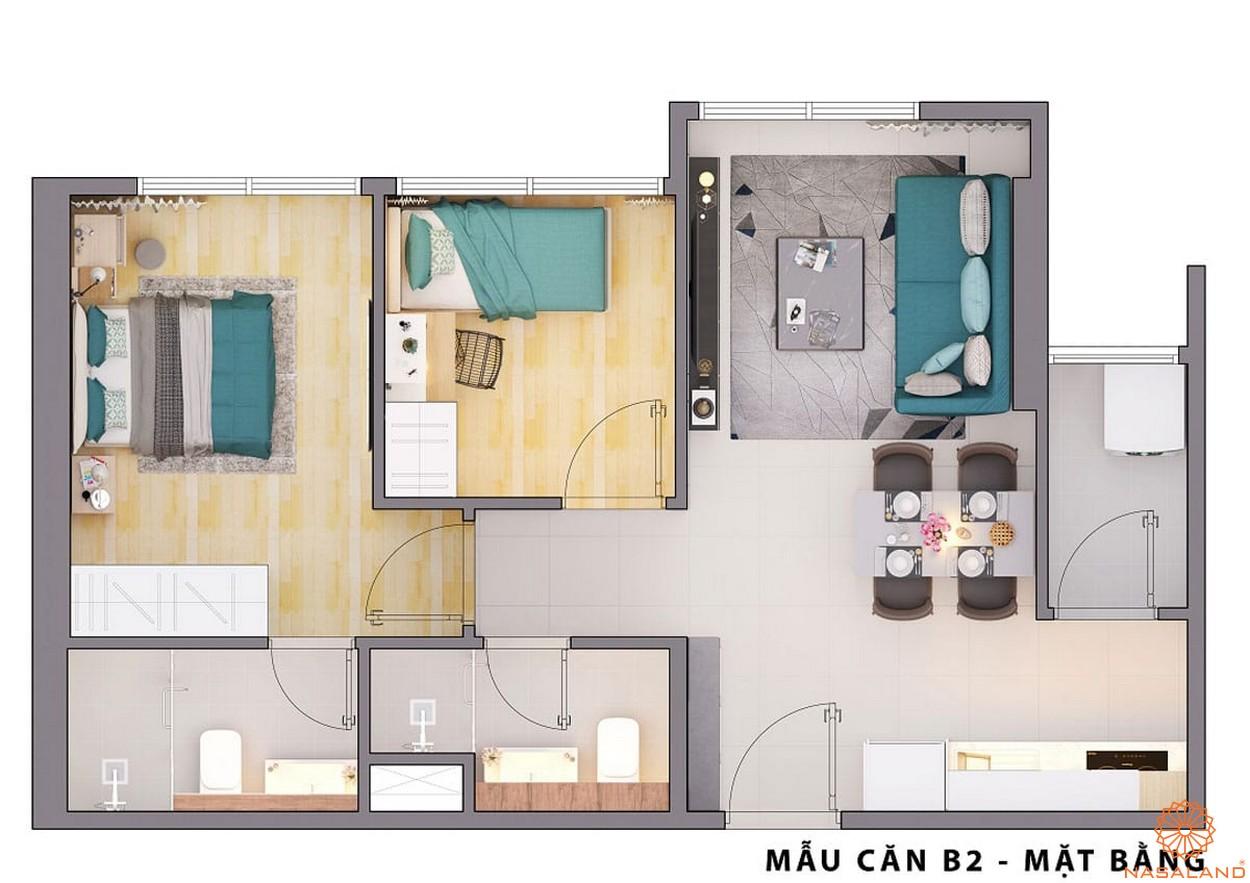 Mặt bằng dự án căn hộ Opal Avenue Bình Dương mẫu B2