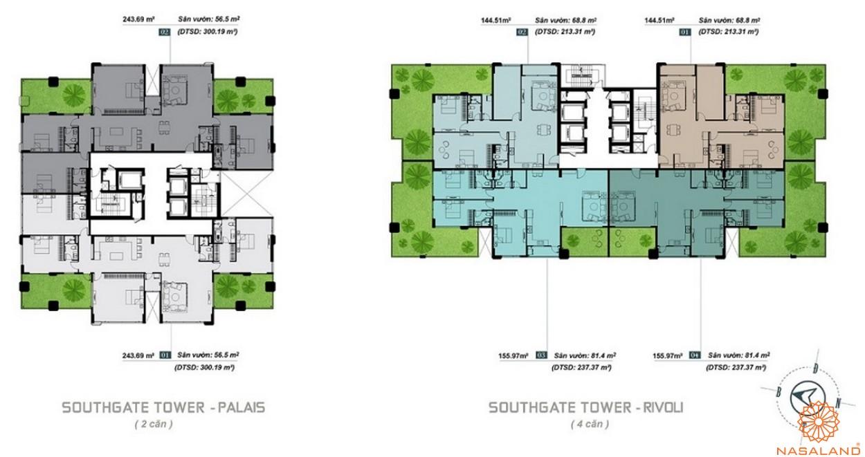 Mặt bằng Penthouse dự án căn hộ South Gate Tower quận 7