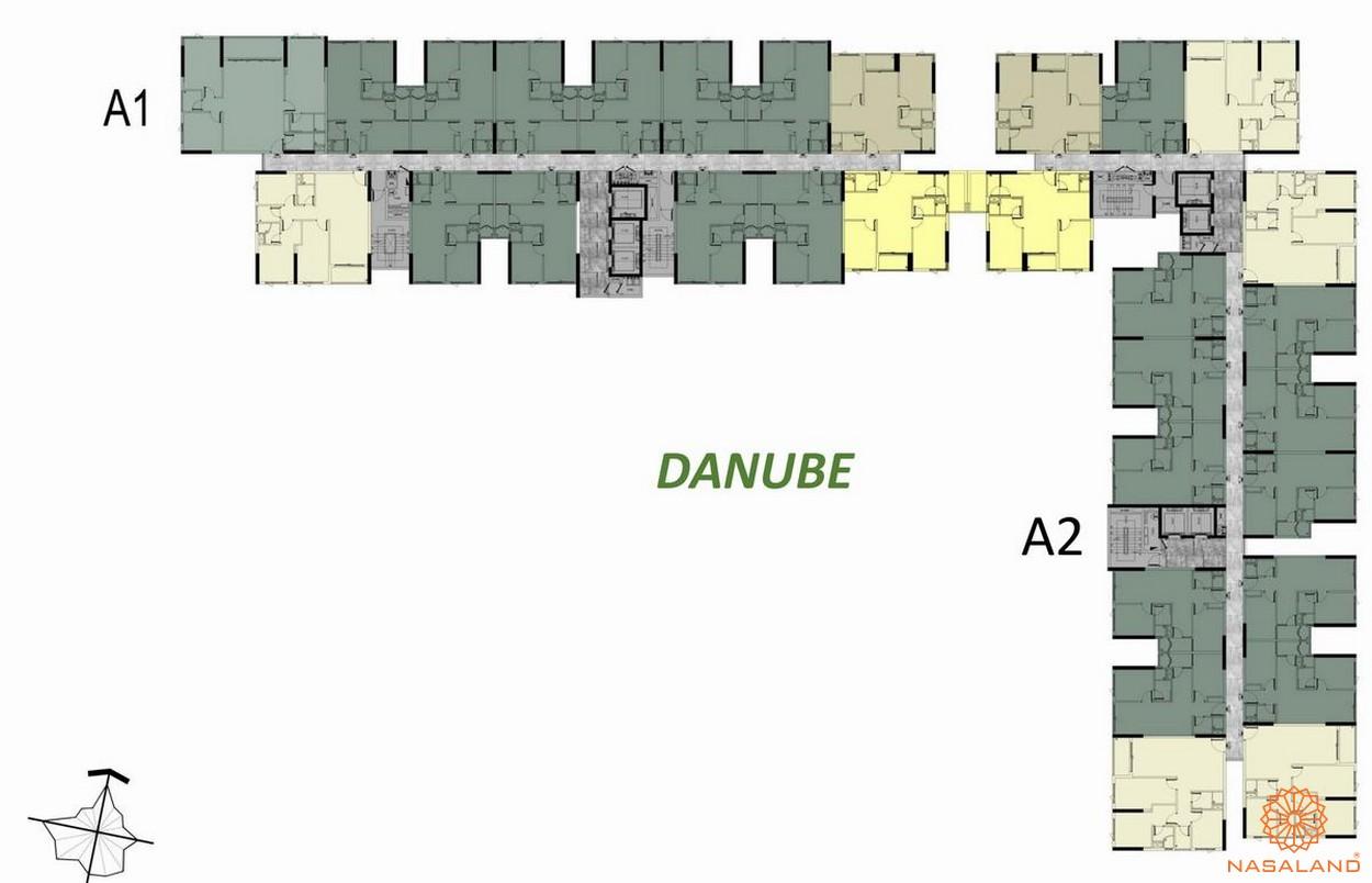 Mặt bằng tầng 17-18-19 block A Danube dự án căn hộ West Gate Bình Chánh
