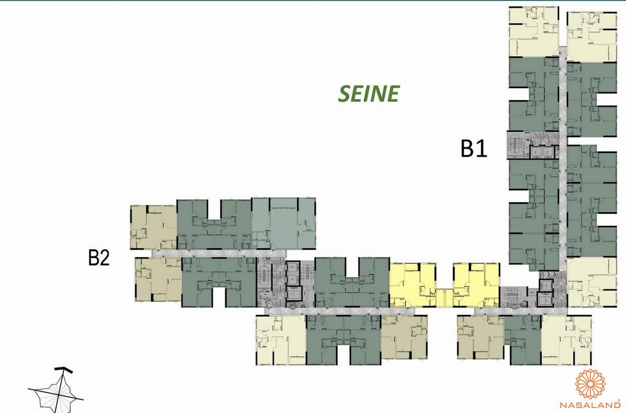 Mặt bằng tầng 17-18-19 block B Seine dự án căn hộ West Gate Bình Chánh