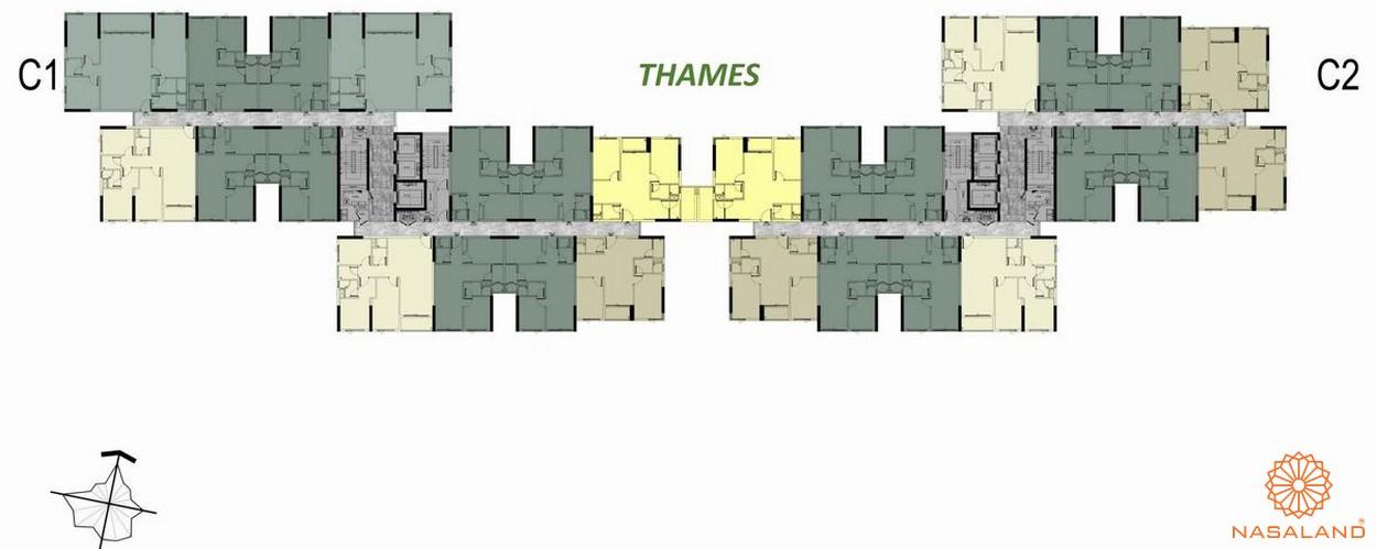 Mặt bằng tầng 17-18-19 block C Thames dự án căn hộ West Gate Bình Chánh