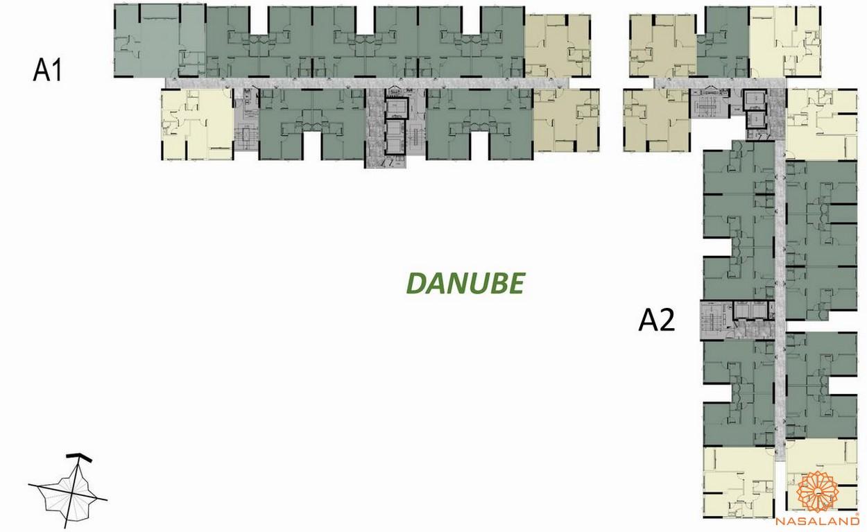 Mặt bằng tầng 3-16 block A Danube dự án căn hộ West Gate Bình Chánh