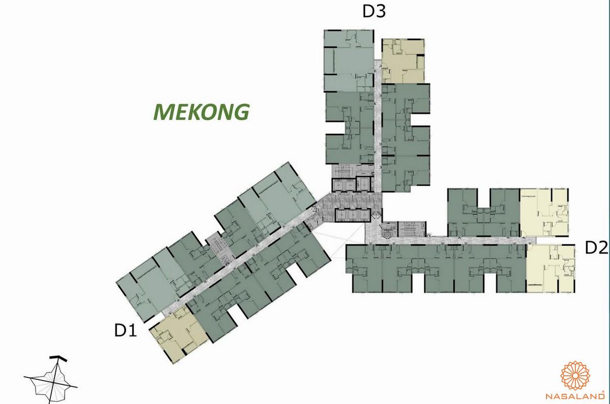 Mặt bằng tầng d Mekong dự án căn hộ West Gate Bình Chánh