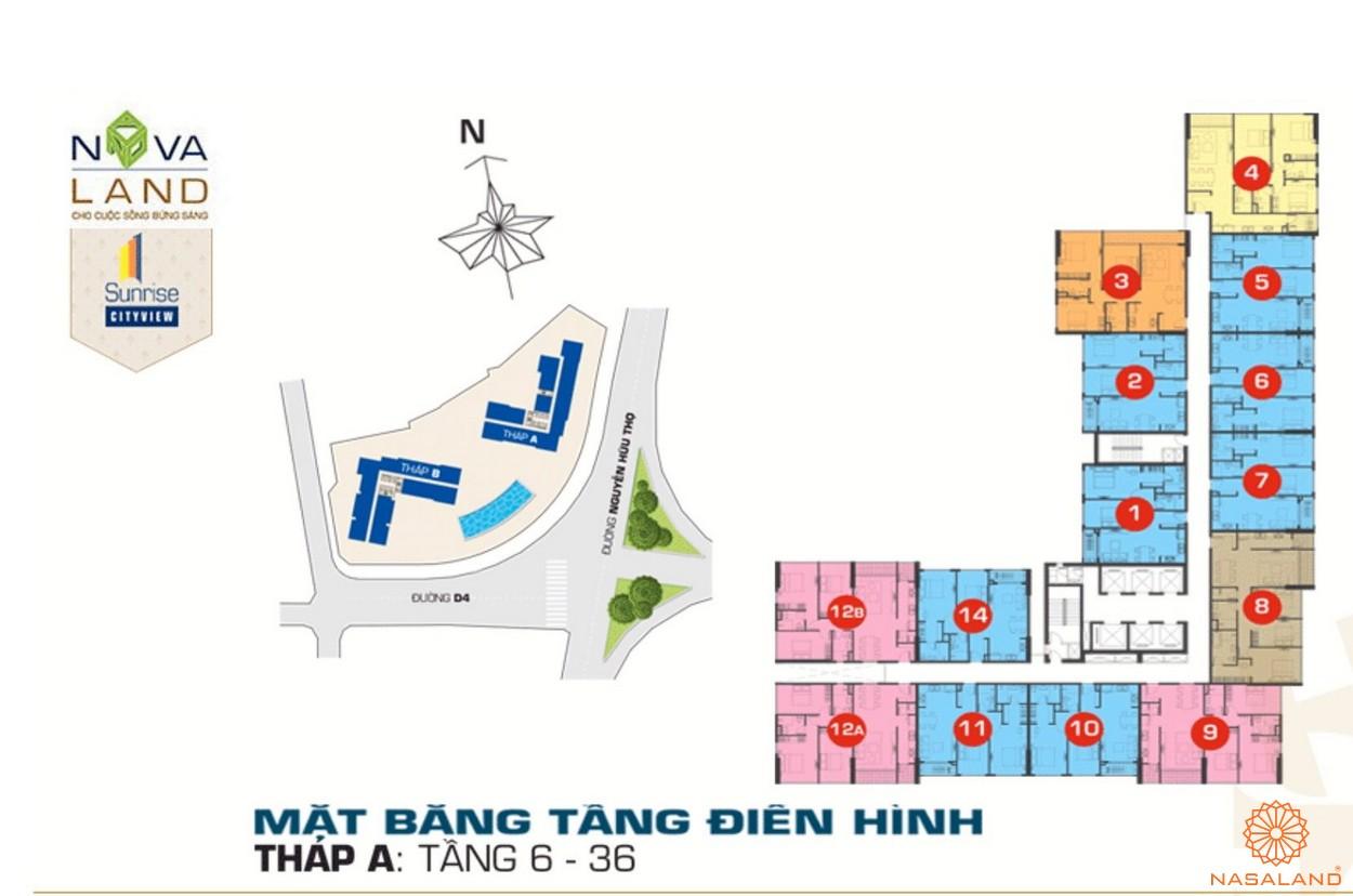 Mặt bằng điển hình dự án căn hộ Sunrise City View quận 7