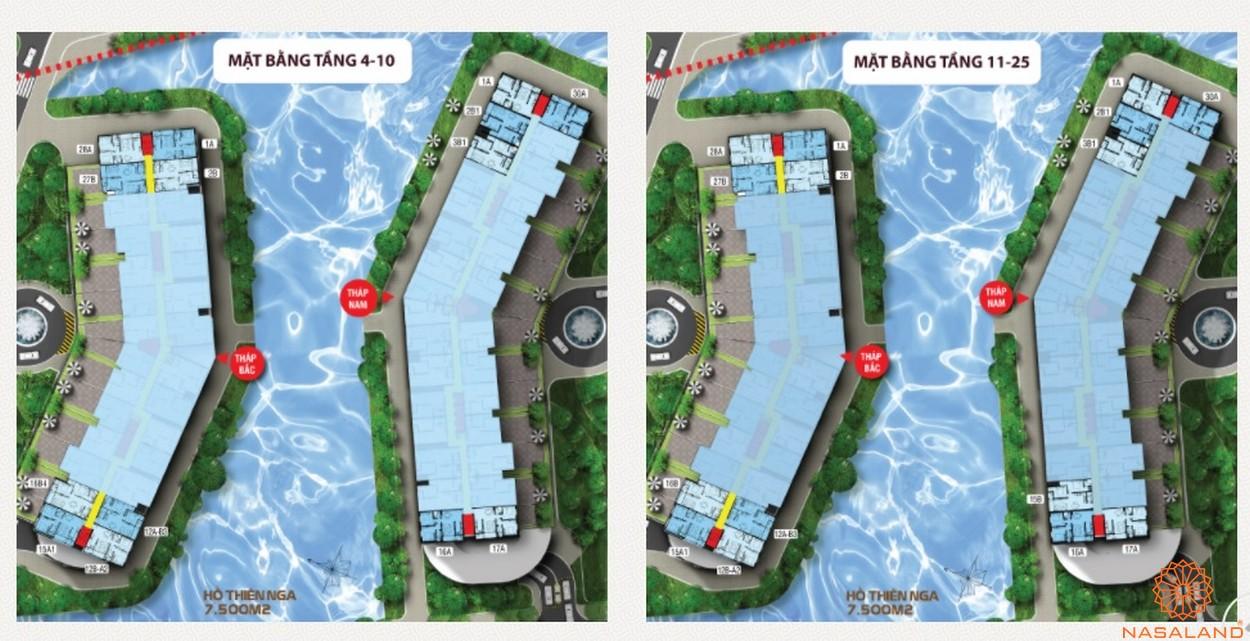 Mặt bằng tầng dự án căn hộ Jamona City quận 7