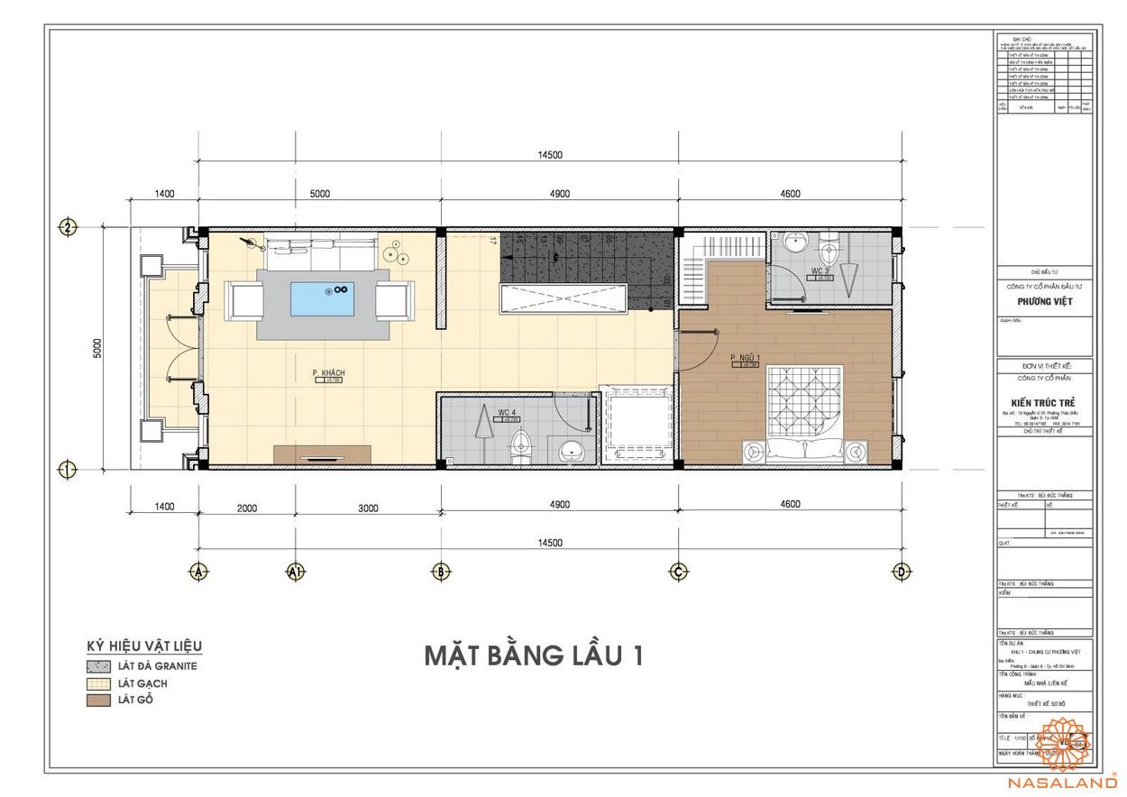 Mặt bằng tầng 1 dự án căn hộ The Pegasuite quận 8