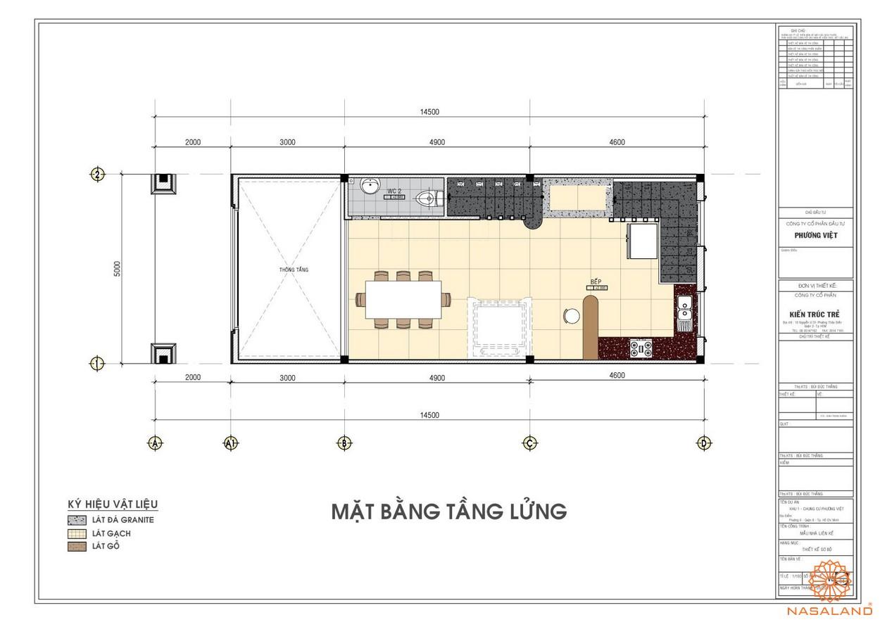 Mặt bằng tầng lửng dự án căn hộ The Pegasuite quận 8