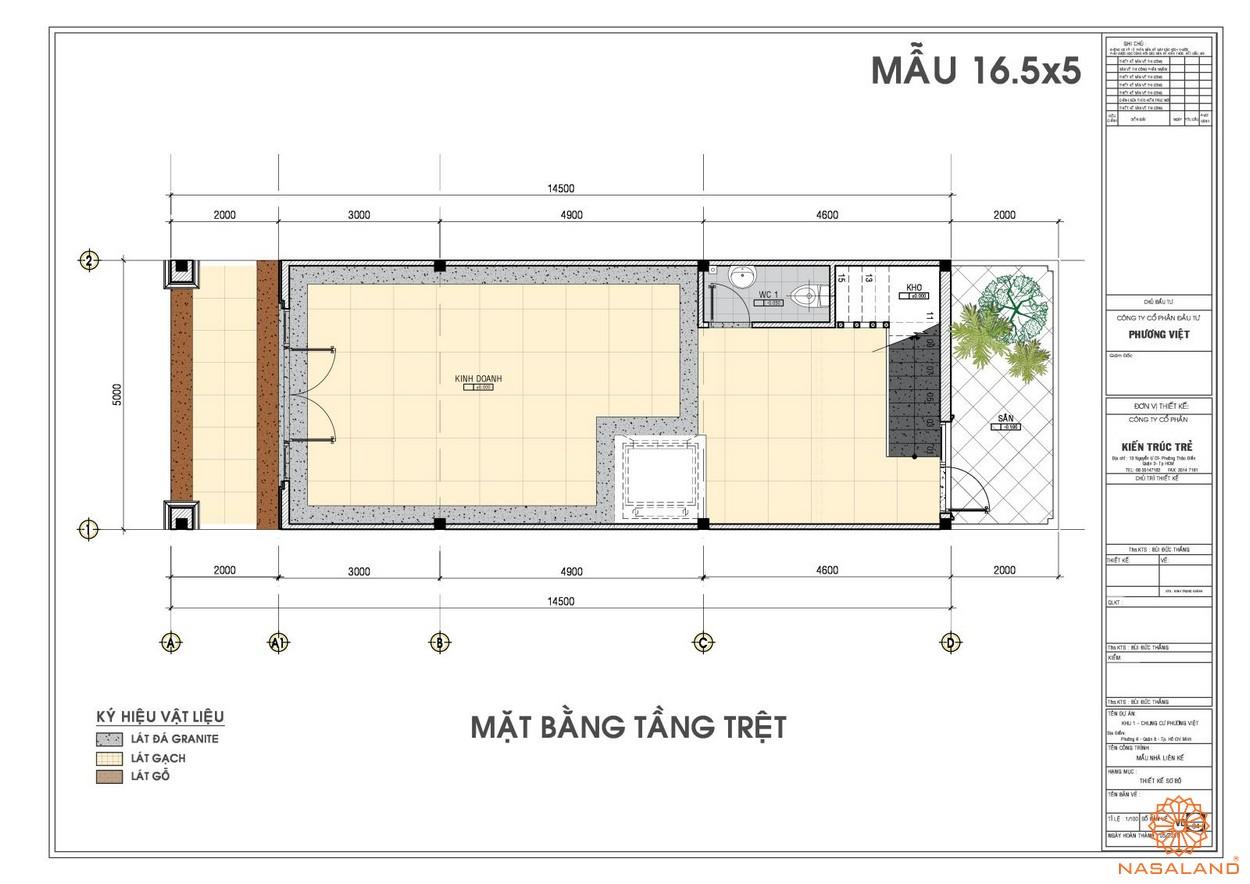 Mặt bằng tầng trệt dự án căn hộ The Pegasuite quận 8