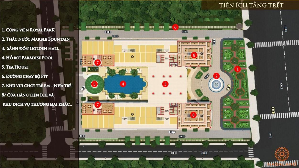 Mặt bằng tiện ích căn hộ Dream Home Palace quận 8