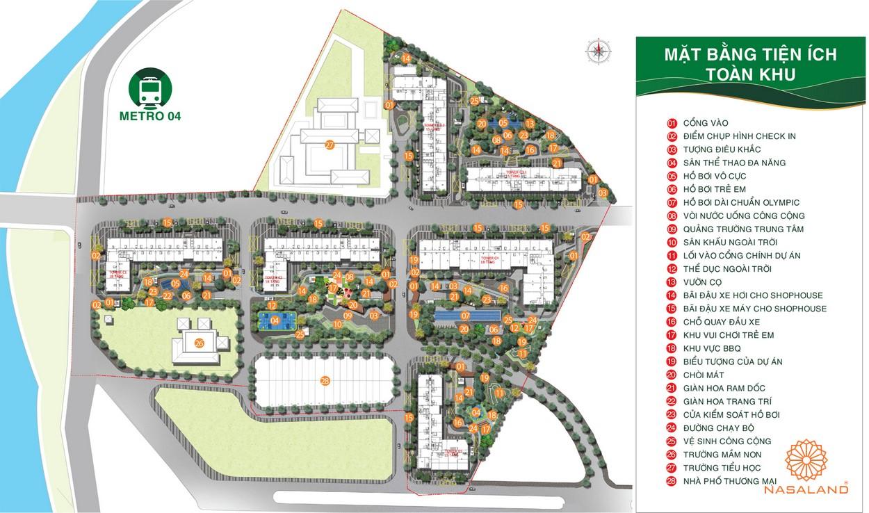 Mặt bằng tiện ích toàn khu dự án căn hộ Picity High Park quận 12