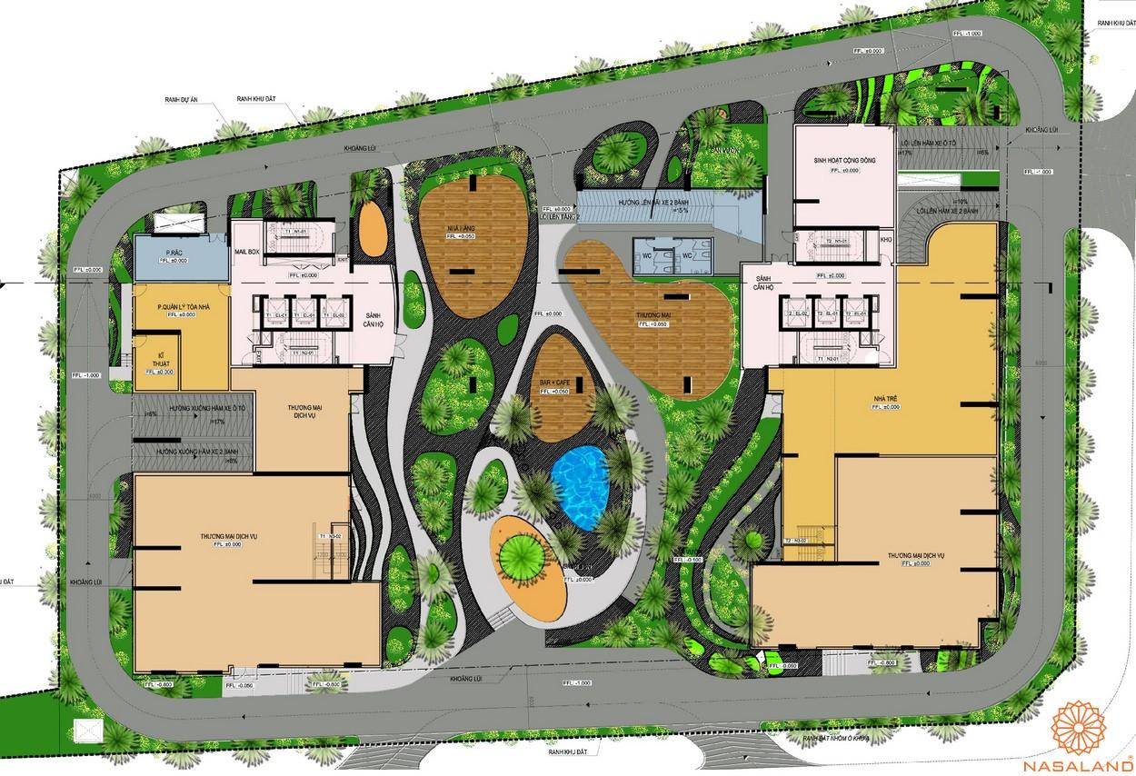 Mặt bằng tổng thể dự án căn hộ The Golden Star quận 7