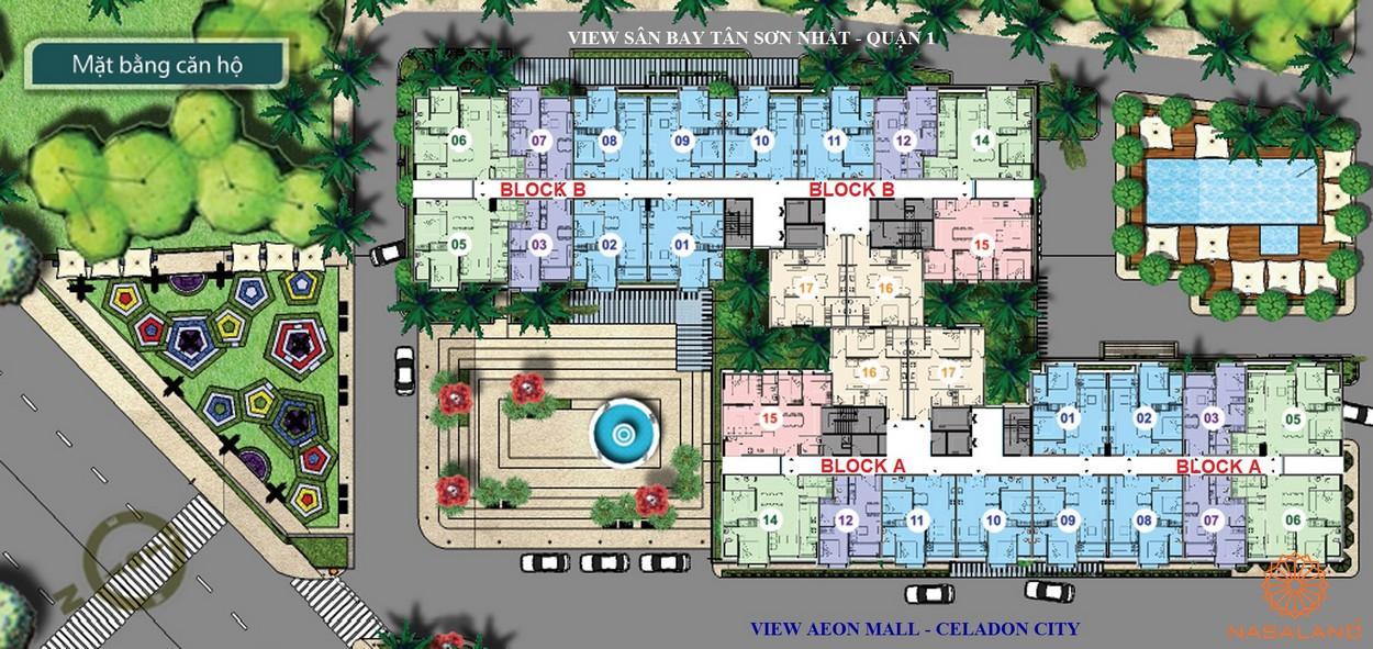 Mặt bằng dự án căn hộ An Gia Garden Quận Tân Phú