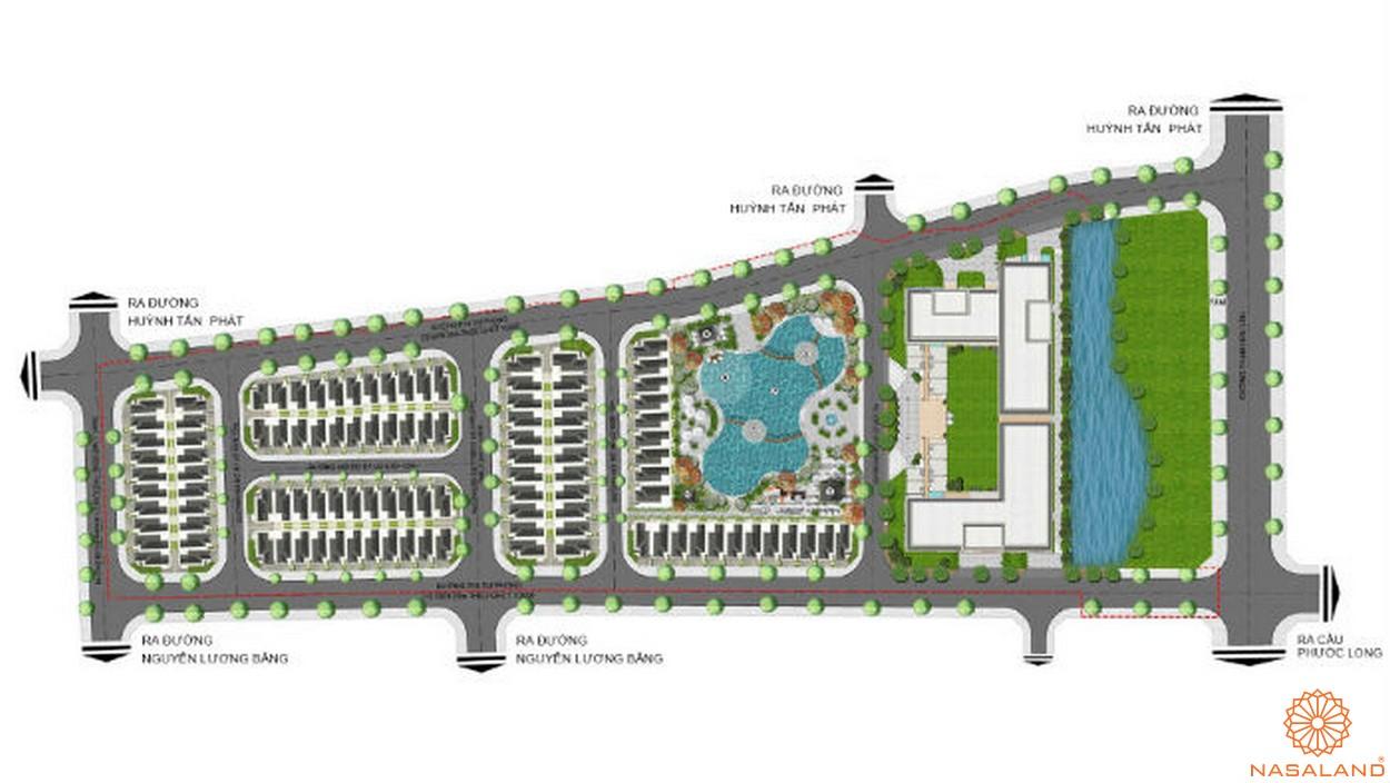 Mặt bằng tổng thể dự án căn hộ Green Star Sky Garden Quận 7
